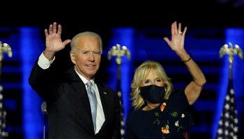 jill-biden-wears-oscar-de-la-renta-joe-biden-presidential-victory-speech-in-delaware
