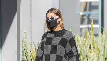 hailey-bieber-in-balenciaga-checkerboard-sweatshirt-out-in-los-angeles