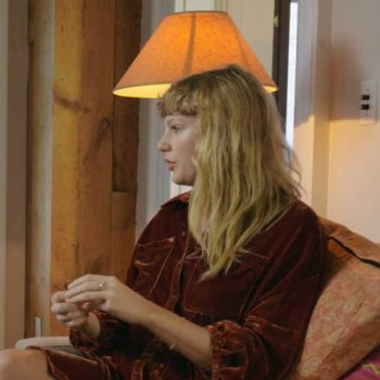 taylor-swift-wore-free-people-blouse-shirt-dress-for-folklore-the-long-pond-studio-sessions
