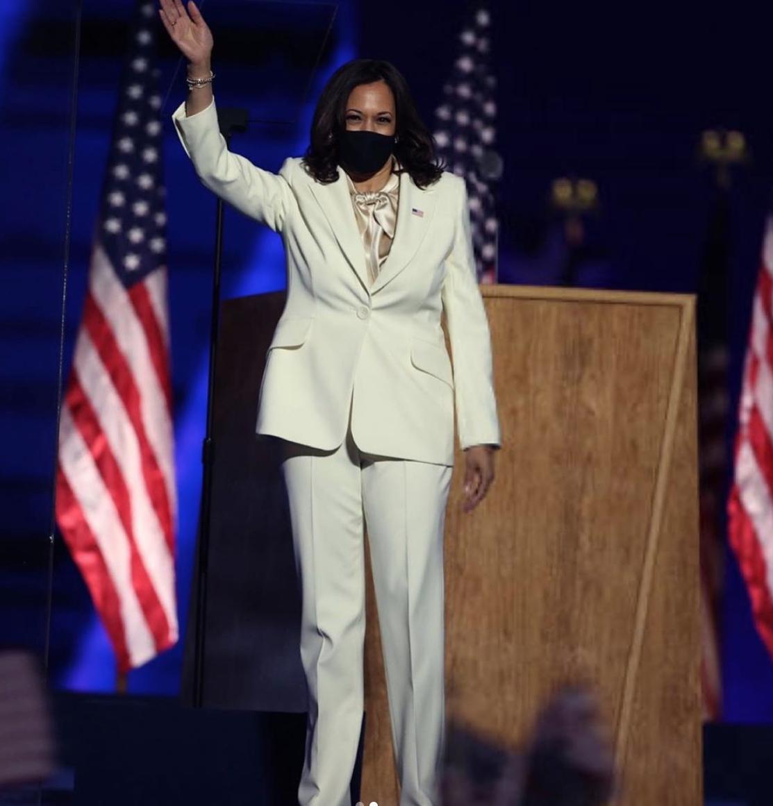 united-states-vice-president-elect-kamala-harris-made-historical-speech-in-carolina-herrera-suit