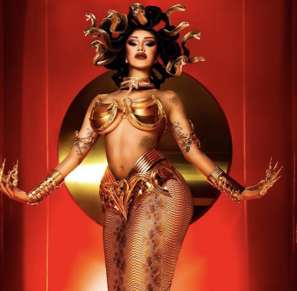 cardi-b-transformed-into-greek-goddess-medusa-to-celebrate-halloween