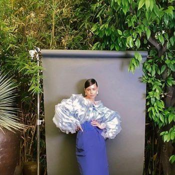 sofia-carson-wore-carolina-herrera-for-the-cfda-digital-facetime-campaign-shoot