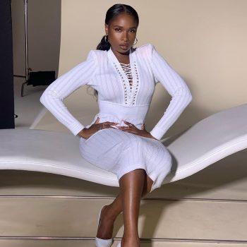 jennifer-hudson-wore-a-white-balmain-knit-dress-instagram
