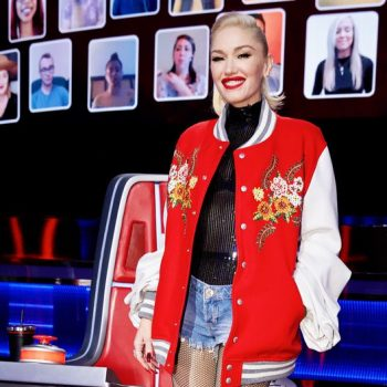 gwen-stefani-wore-junya-watanabe-bomber-jacket-the-voice-season-19-knockouts