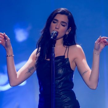 dua-lipa-wore-leather-dress-performing-pandora-live-virtual-event