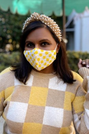 mindy-kaling-wore-tory-burch-checkered-sweatshirt-instagram-january-4-2021