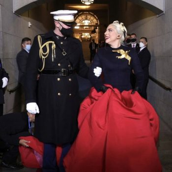 lady-gaga-wore-custom-schiaparelli-couture-inauguration