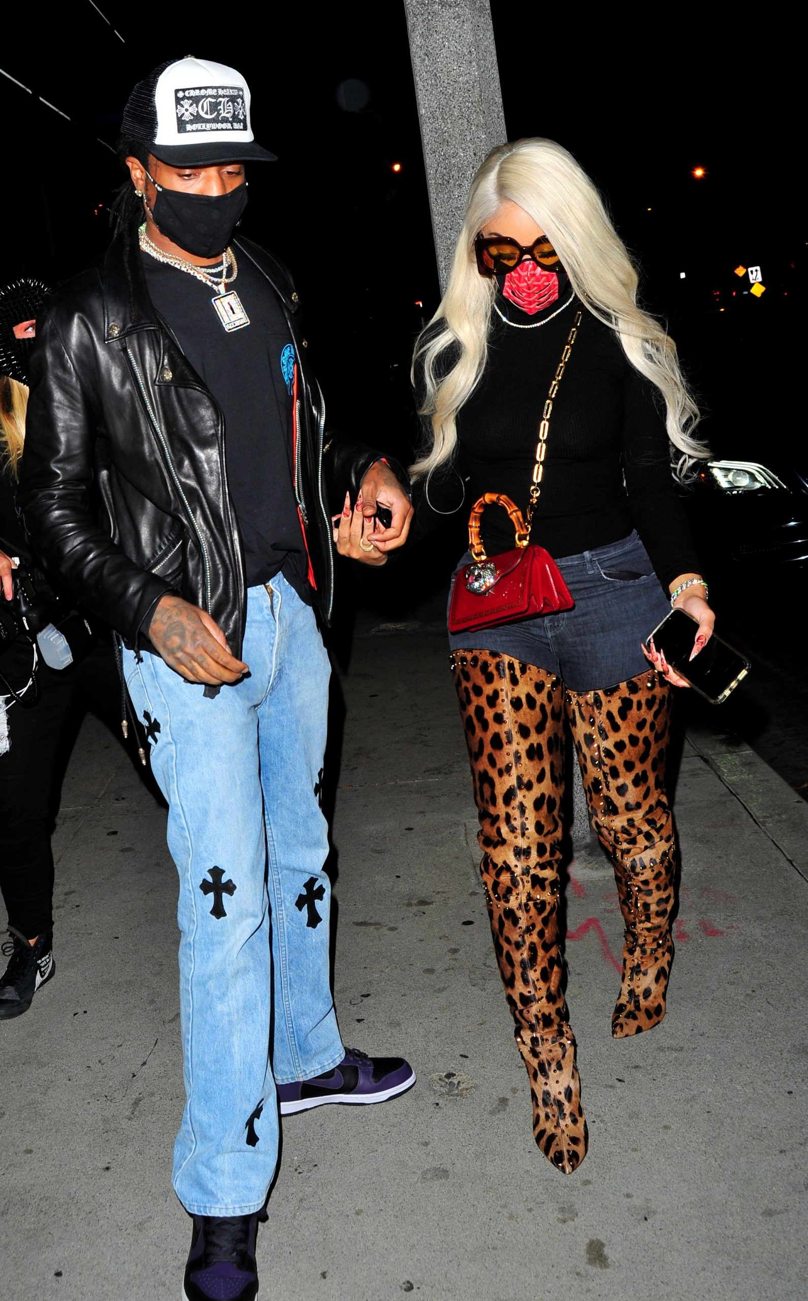 saweetie-wore-louboutin-metrolisse-leopard-boots-for-date-night-with-quavo