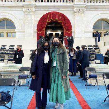 meena-harris-wore-coach-shearling-coat-inauguration-2021