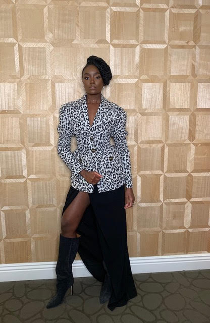 Kiki Layne Wears Cong Tri Blazer To Promote Coming To America 2 Fashionsizzle