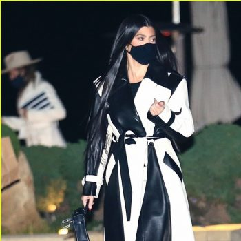 kourtney-kardashian-in-celine-leather-coat-nobu-february-8-2021