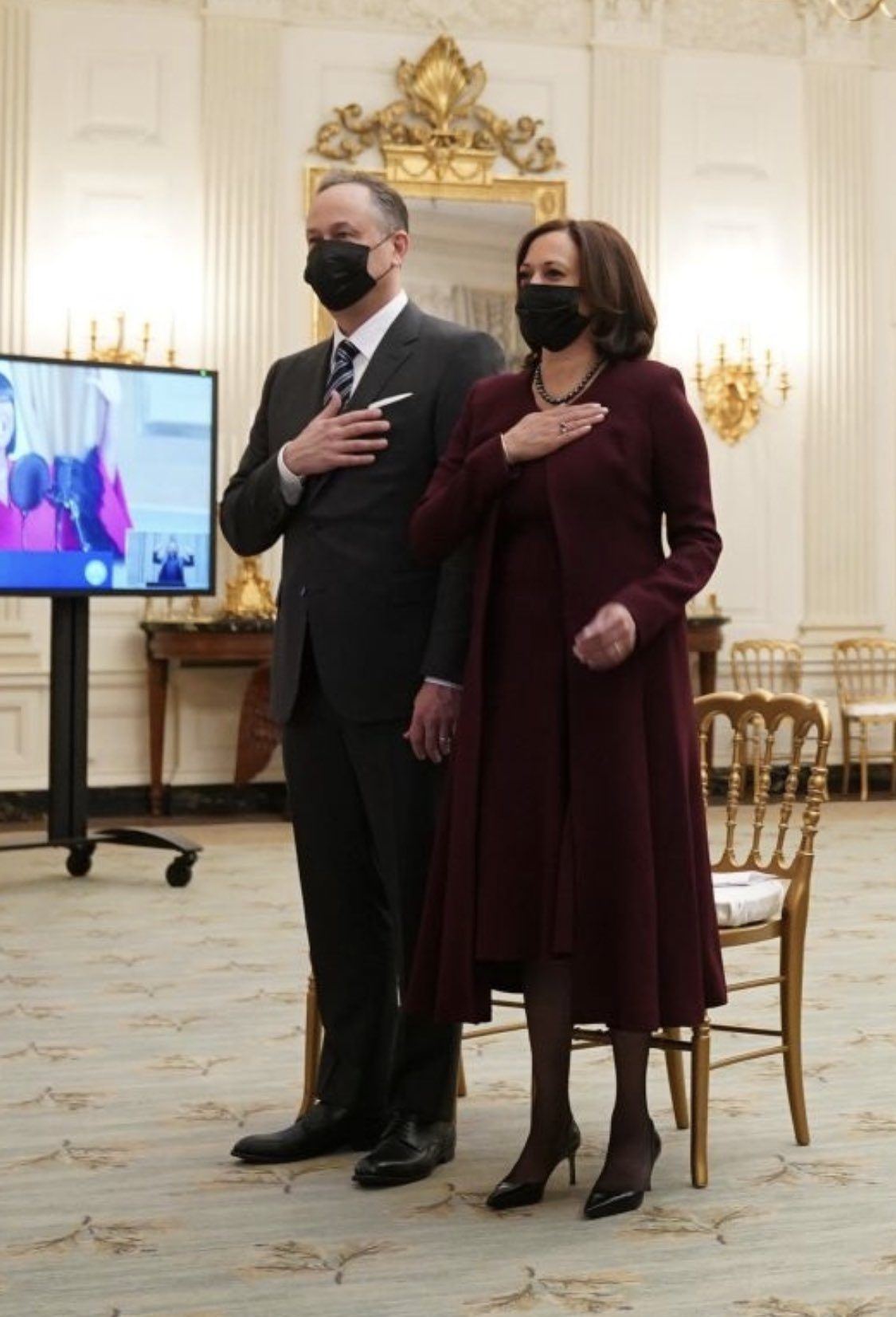 kamala-harris-⁩-wearing-prabal-gurung-virtual-presidential-inaugural-prayer-service