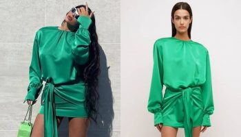 kylie-jenner-wore-the-attico-draped-mini-dress-instagram