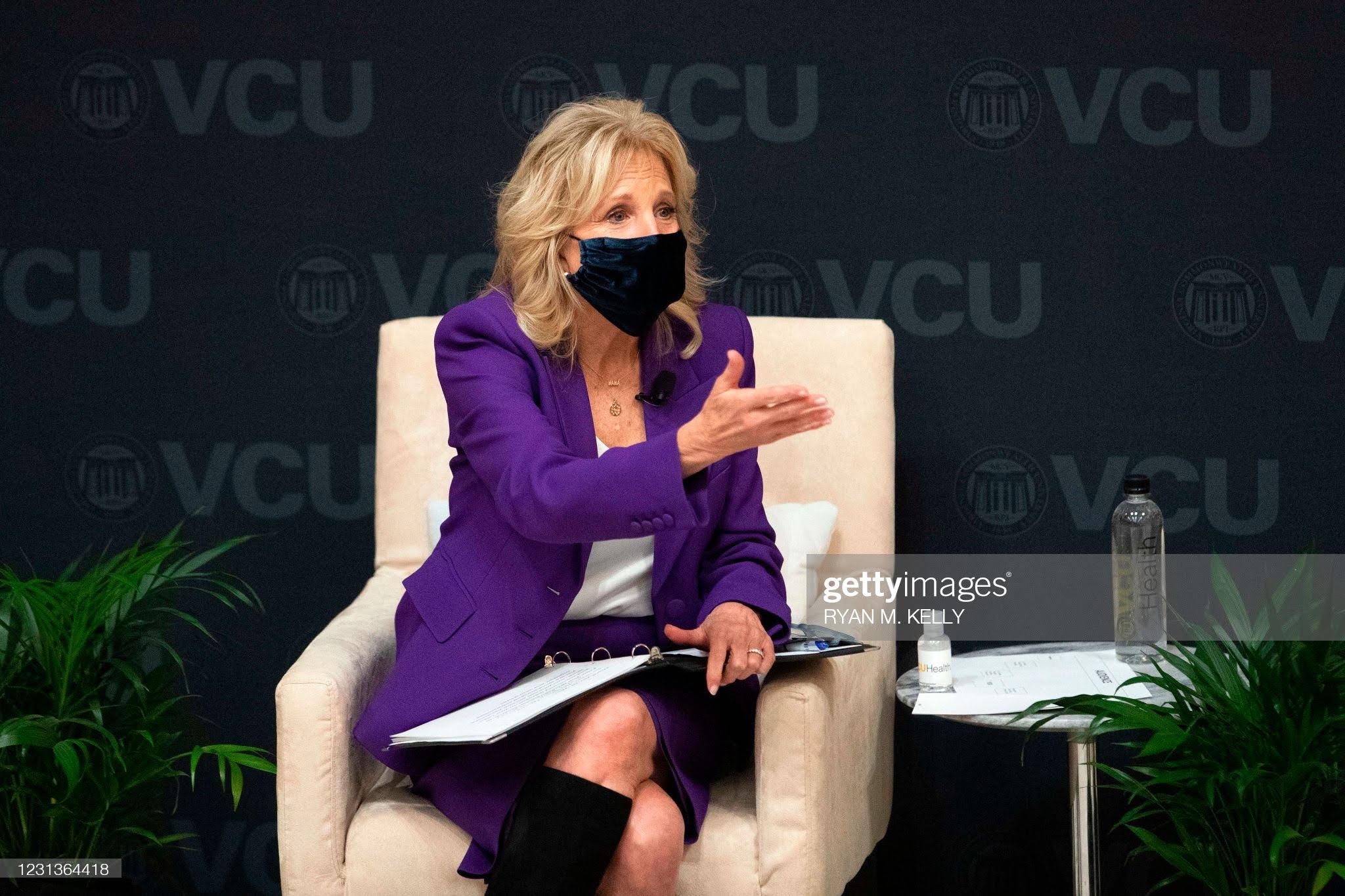 us-first-lady-dr-jill-biden-in-michael-kors-visit-the-vcu-massey-cancer-center