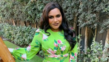 mindy-kaling-wearing-andrew-gn-floral-dress-instagram