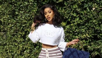 cardi-b-is-in-chanel-cruise-2021-logo-sweater-instagram