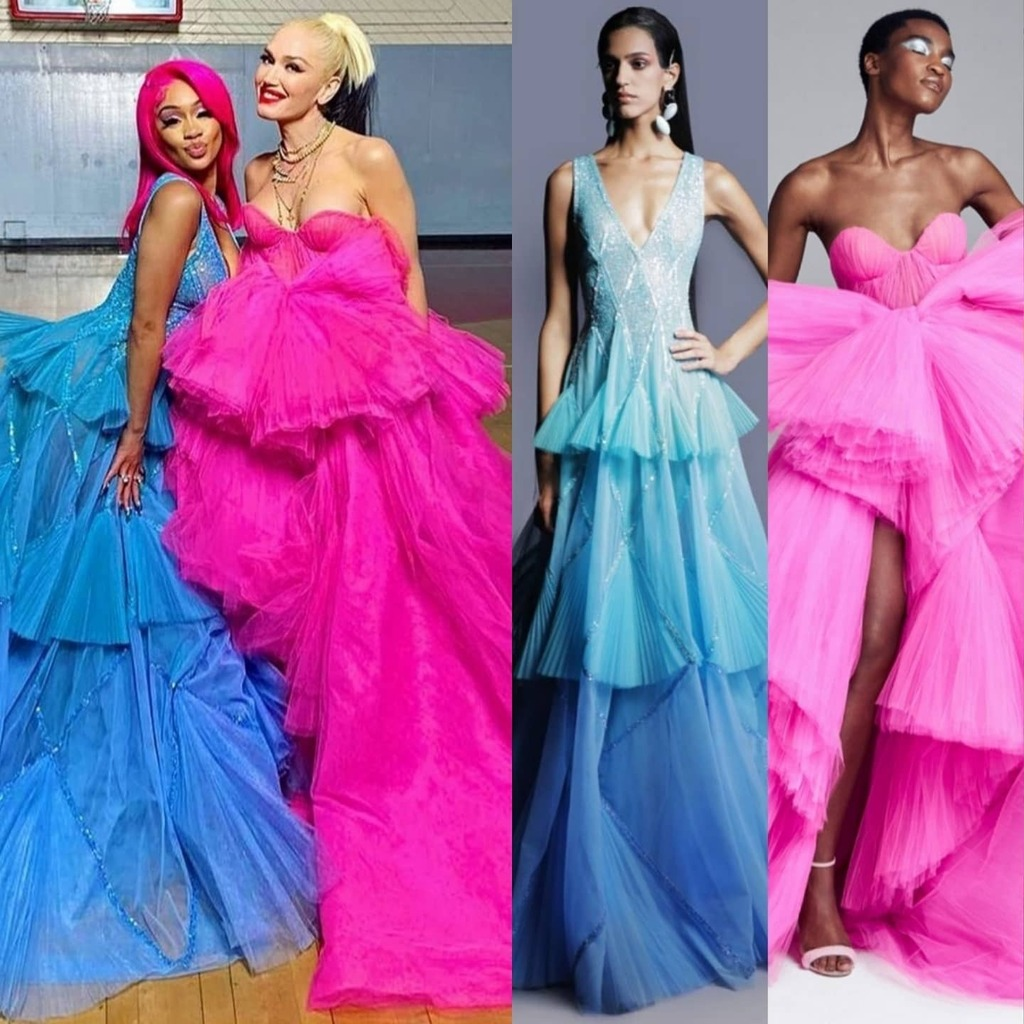 saweetie-wore-georges-hobeika-gwen-stefani-wore-ralph-russo-haute-couture-for-slow-clap-video