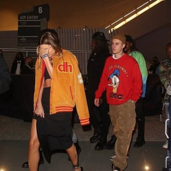 hailey-bieber-in-drew-house-varsity-jacket-leaving-2021-billboard-awards-after-party