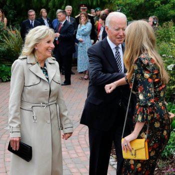 jill-biden-wore-gabriela-hearst-trench-coat-g7-summit-leaders-reception