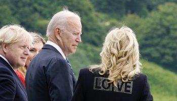 first-lady-jill-biden-wore-alove-jacket-meeting-with-uk-pm-boris-johnson-carrie-johnson