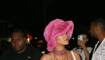 rihanna-wears-pink-dress-with-thigh-high-slit-to-dinner-with-aap-rocky