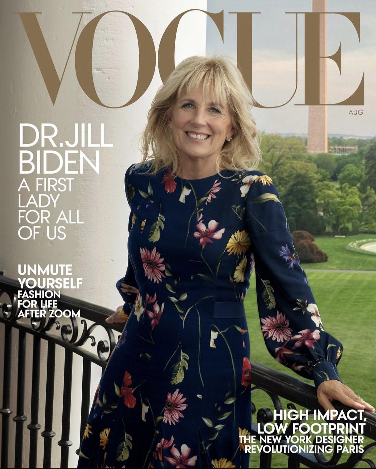 first-lady-jill-biden-wears-oscar-de-la-renta-for-cover-of-vogue-shot-by-annie-leibovitz