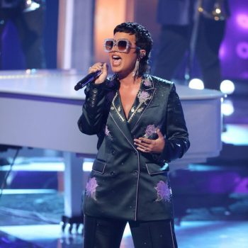 demi-lovato-wore-suit-performing-tribute-to-elton-john-iheartradio-awards
