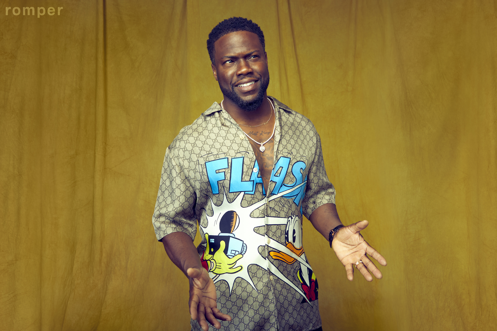 kevin-hart-coversthe-fathers-day-issue-of-romper-wearing-disney-x-gucci-shirt