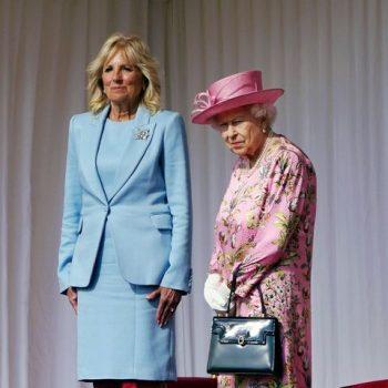 jill-biden-wore-a-powder-blue-suit-for-tea-with-queen-elizabeth