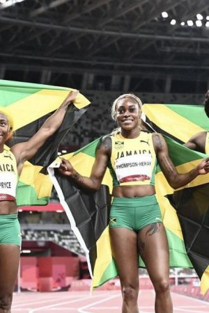 elaine-thompson-herah-breaks-olympic-record-leads-jamaican-sweep-in-womens-100m-final