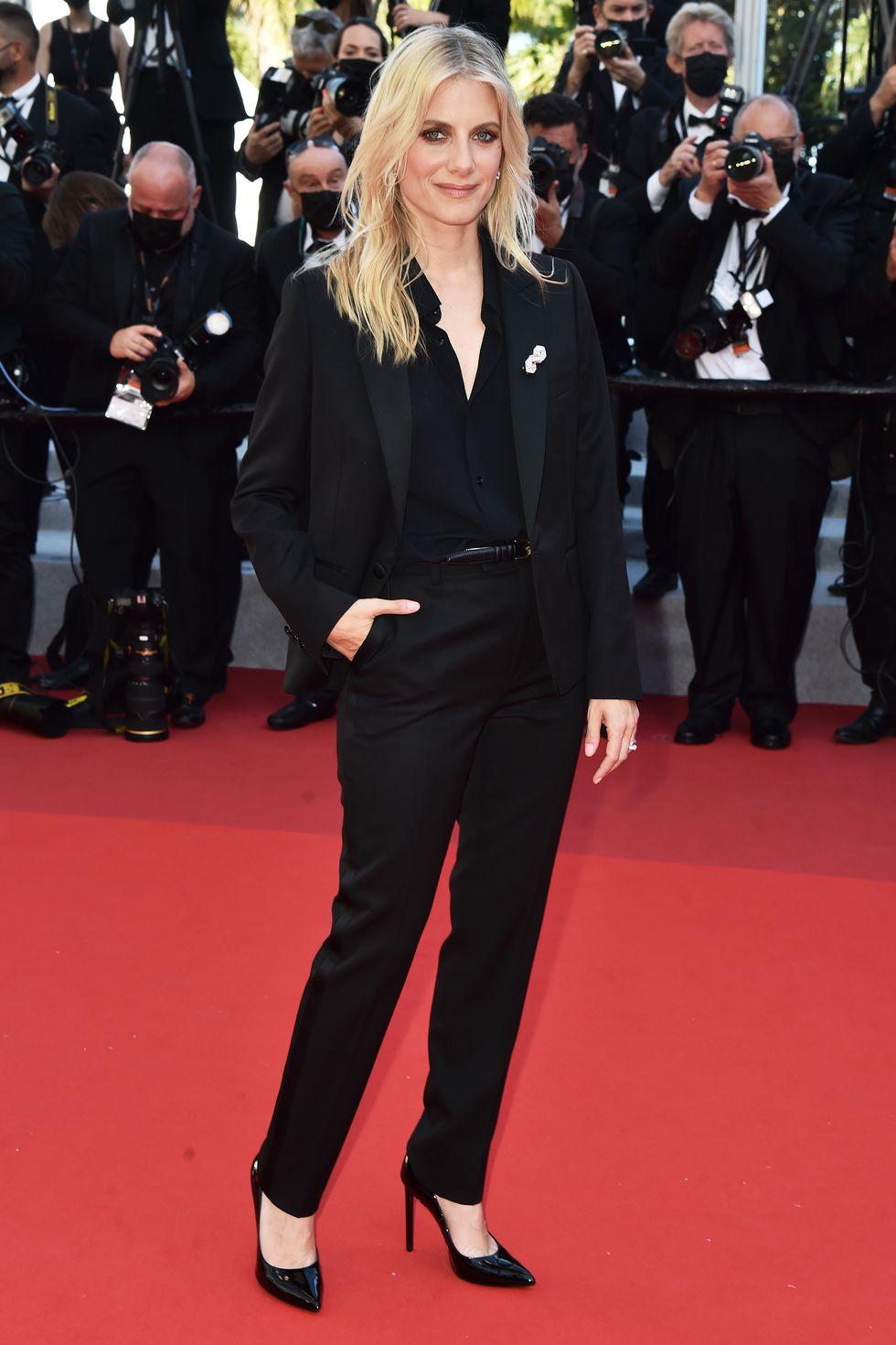 melanie-laurent-wore-celine-suit-benedetta-cannes-film-festival-premiere