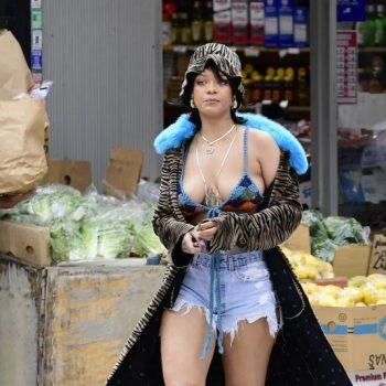 rihanna-wears-a-bikini-top-jean-shorts-on-the-set-of-a-music-video-with-aap-rockyin-the-bronx