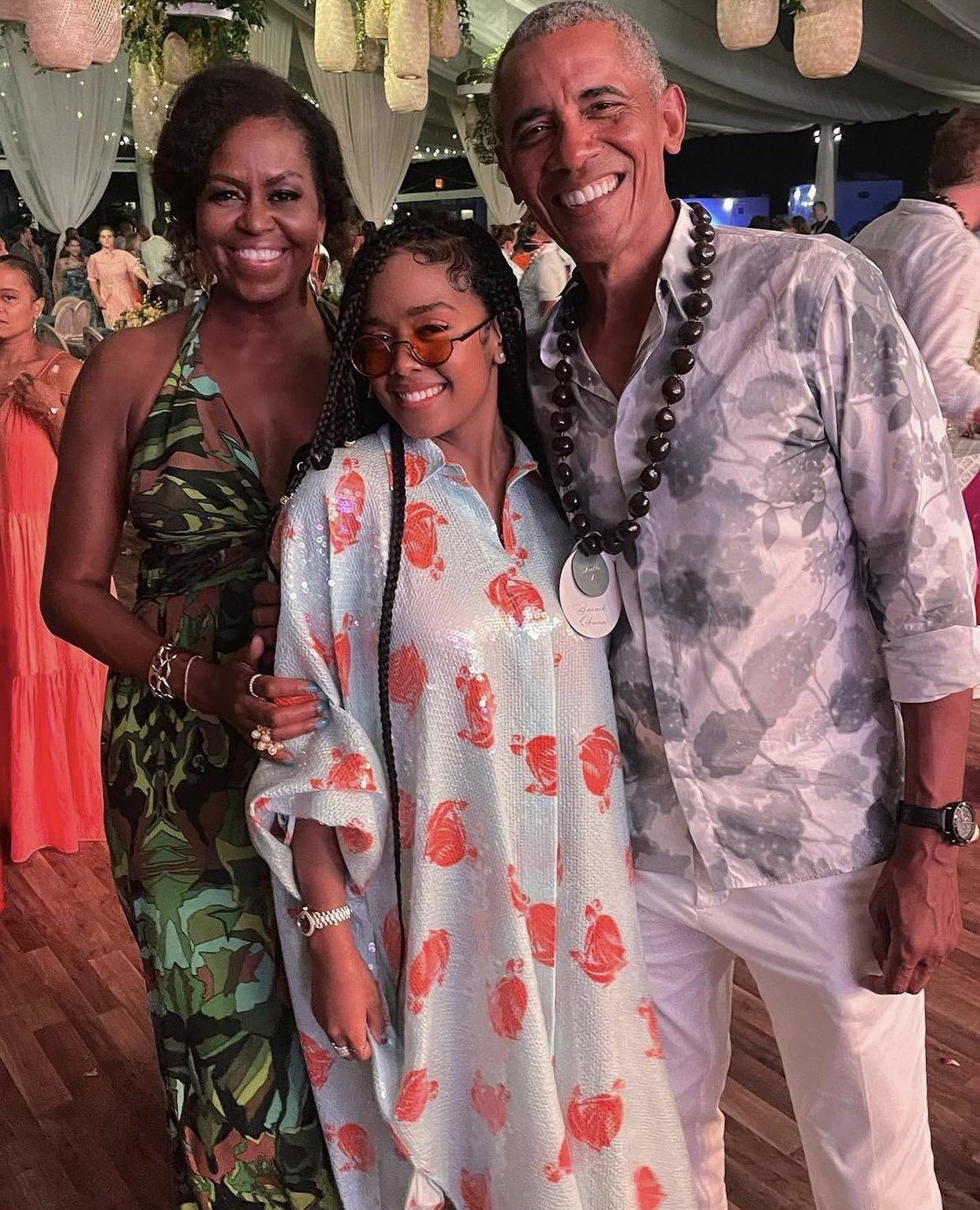 barack-obama-wears-fendi-floral-shirt-for-his-60th-birthday-party-michelle-obama-in-custom-dundas