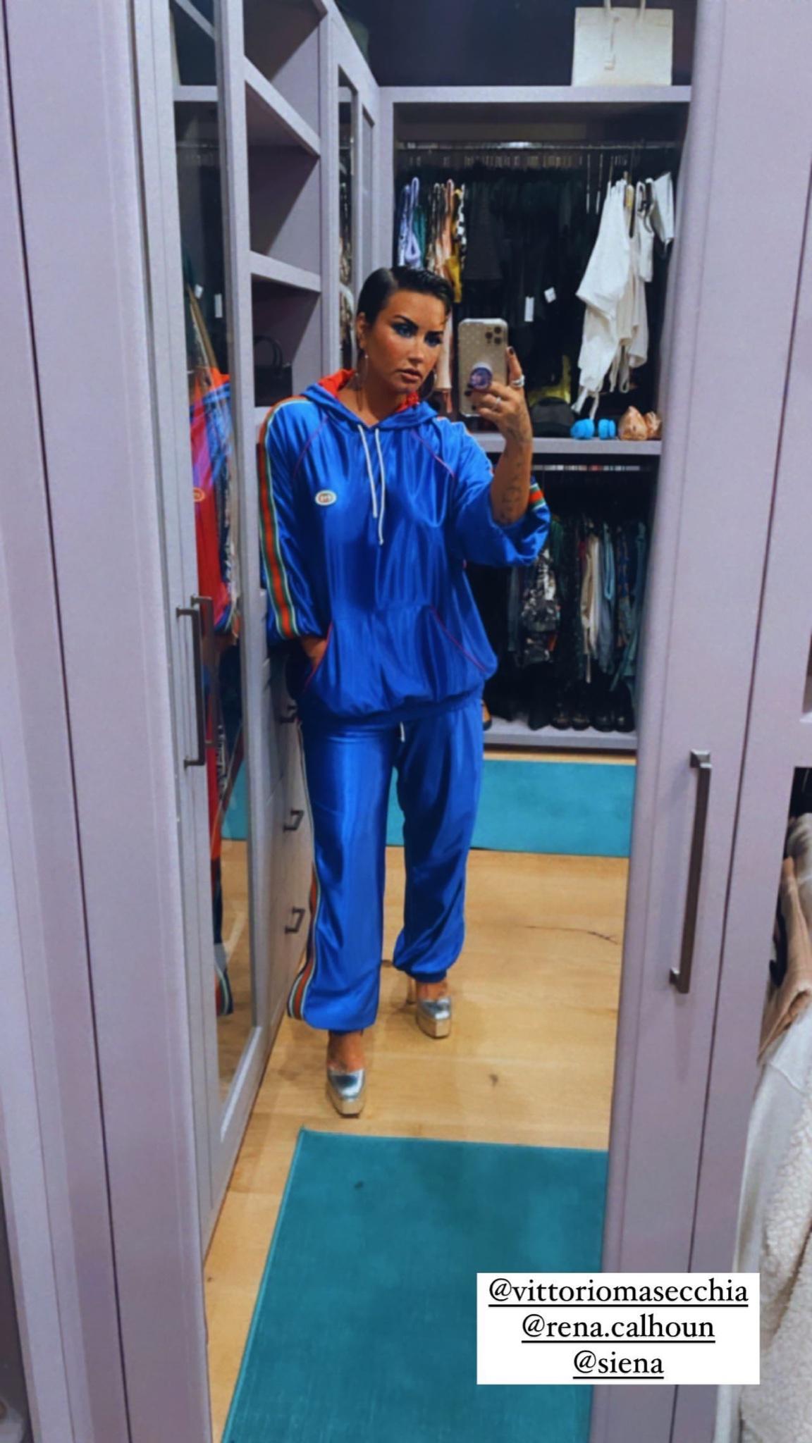 demi-lovato-wears-gucci-instagram-story-august-28-2021