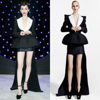 lily-collins-wore-ronald-van-der-kemp-couture-clash-de-cartier-event