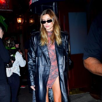 hailey-bieber-wore-david-koma-trench-coat-justin-bieber-our-time-premiere-september-14-2021