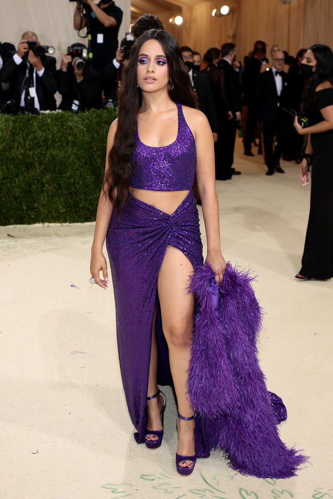 camila-cabello-wore-a-custom-michaelkors-violet-sequin-embellished-cutout-dress-with-a-matching-silk-organza-feather-coat-to-the-metgala-metgala2021