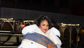 lizzo-wears-viktorrolf-dont-be-a-drag-just-be-a-queen-coat-in-new-york