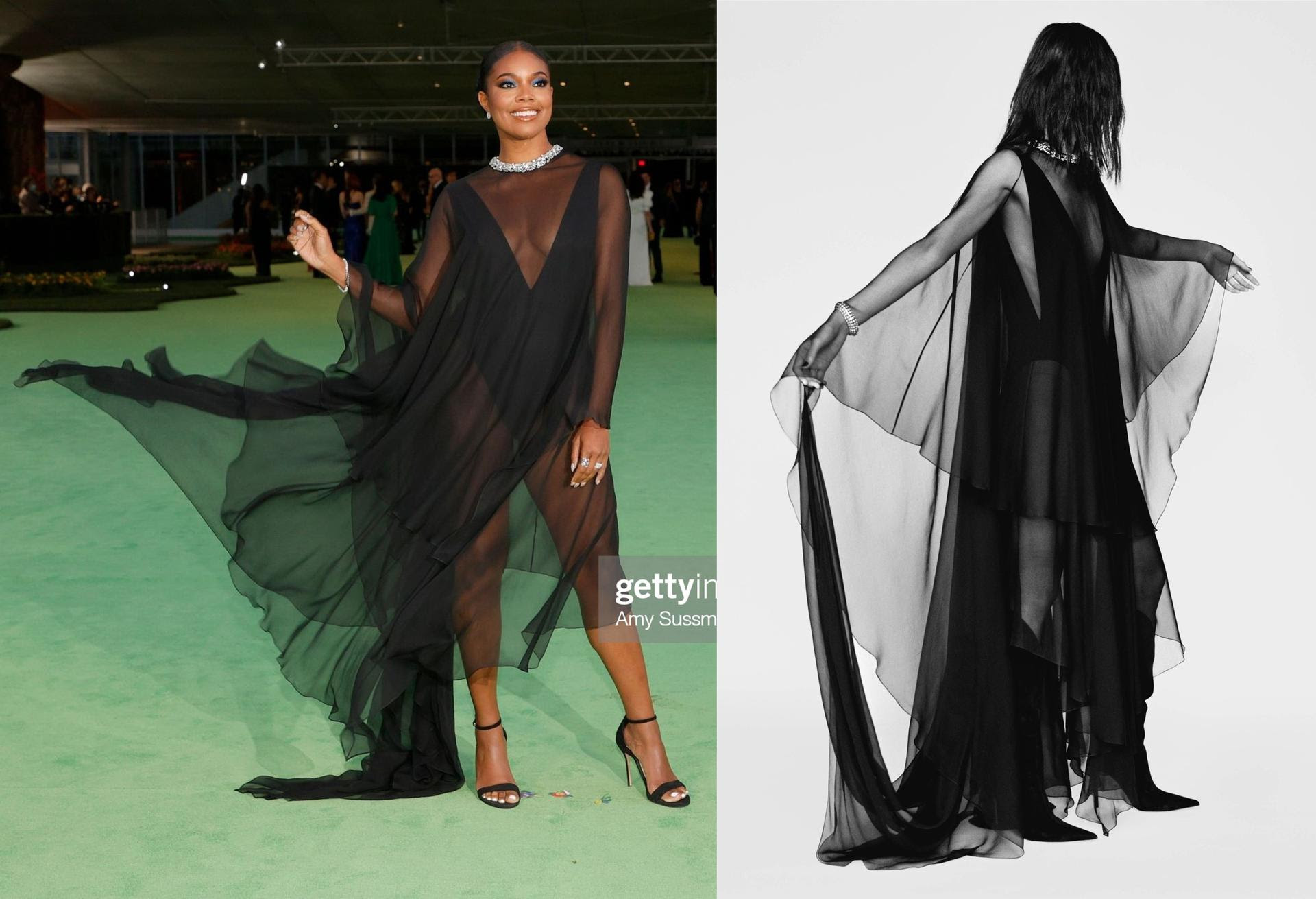 Gabrielle Union Wore Alexandre Vauthier @ 2021 The Academy Museum of Moti