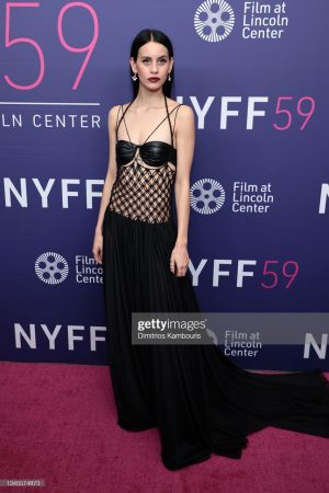 """Milena Smit attends the premiere for """"Parallel Mothers"""" during the 59th New York Film Festival at Alice Tully Hall, Lincoln Center"""