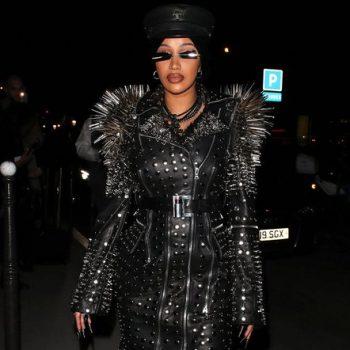 cardi-b-wearing-richard-quinn-trench-coat-leaving-her-hotel-for-paris-fashion-week