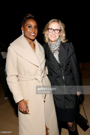 issa-rae-wears-an-other-stories-wool-belted-coat-hbos-insecure-season-5-premiere-after-party