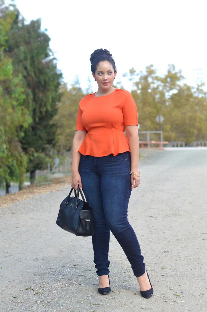 Pair your jeans with a Peplum top for a chic but casual look