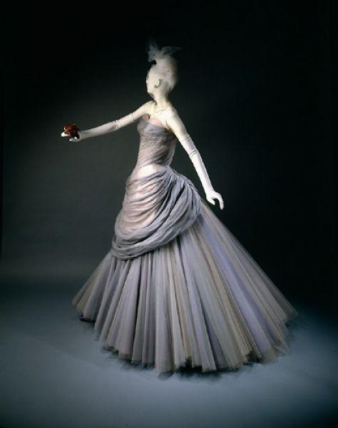 """Swan"" Dress, Charles James (American, 1906-1978): 1955, silk, chiffon, satin, nylon."