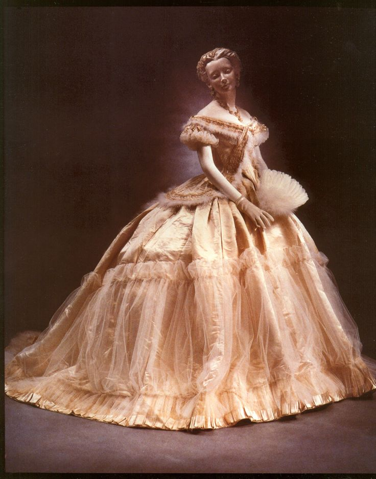 Antebellum Gown 1865 by Charles Worth