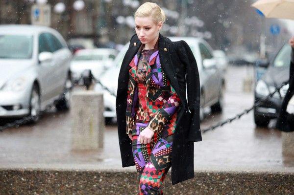 Iggy Azalea Milan Fashion Week