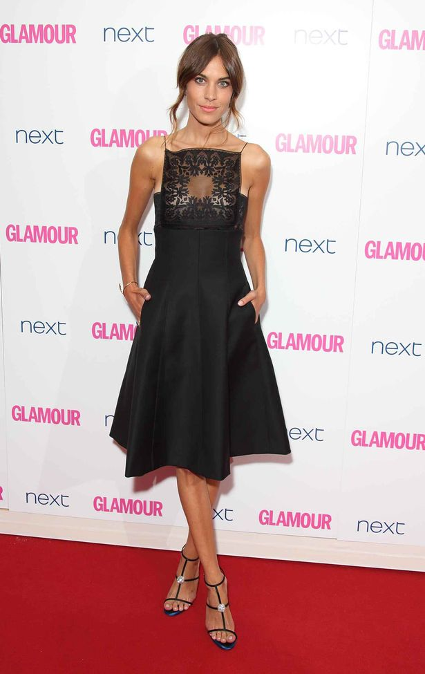 Alexa Chung in Christian Dior dress for The Women of Glamour Awards