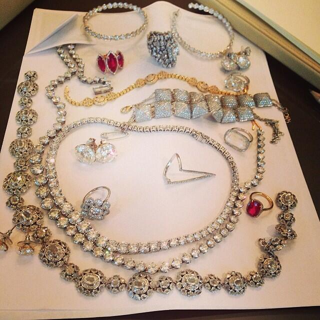 Some of the Lorraine Schwartz jewelry worn by the Kardashian and Jenner sisters this weekend in Paris & Florence