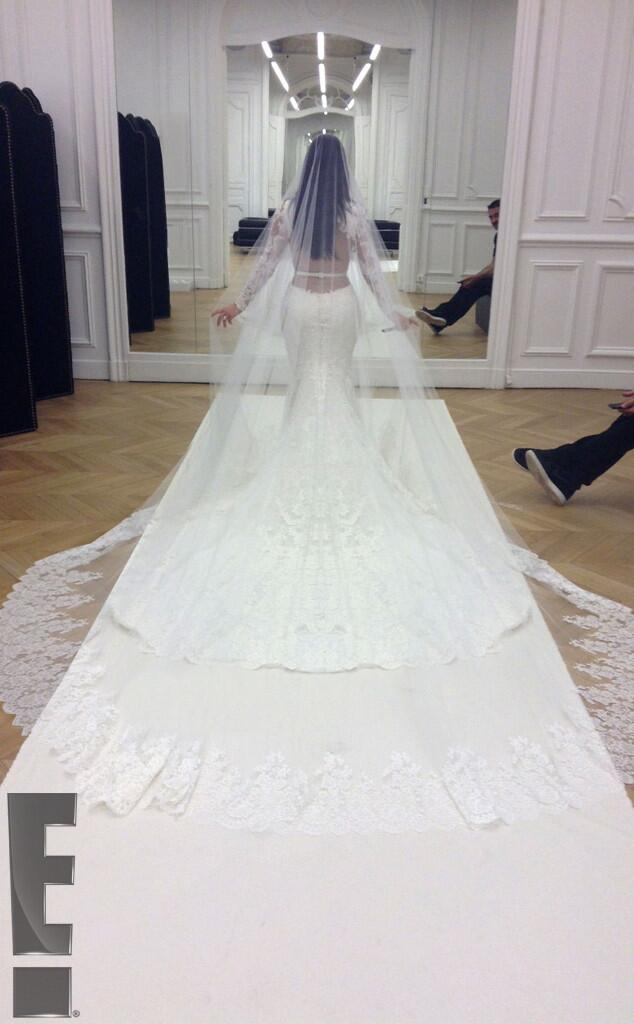Kim's final wedding dress fitting at the Givenchy atelier in Paris
