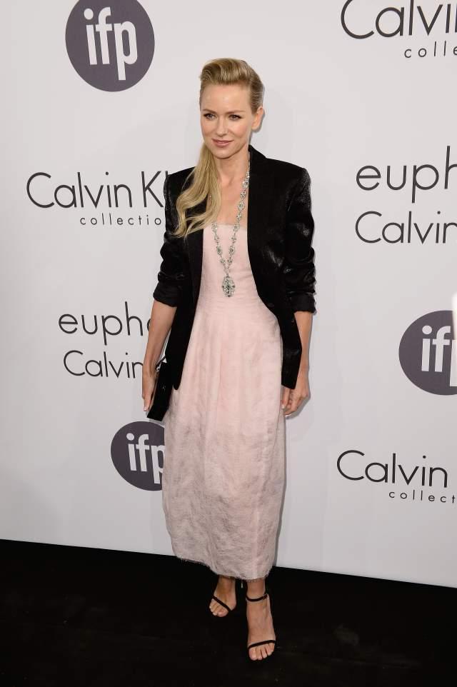 Naomi Watts' pale pink Calvin Klein Collection